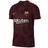 17-18 Barcelona Third Away Brown Soccer Jersey Shirt(Player Version)