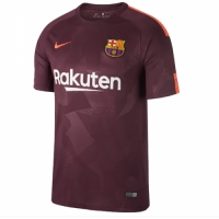 17-18 Barcelona Third Away Red Soccer Jersey Shirt
