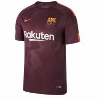 17-18 Barcelona Third Away Red Soccer Jersey Shirt