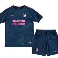 17-18 Atletico Madrid Third Away Green Children's Jersey Kit(Shirt+Short)