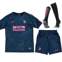 17-18 Atletico Madrid Third Away Green Children's Jersey Kit(Shirt+Short+Socks)