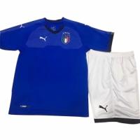 2018 Italy Home Blue Children's Jersey Kit(Shirt+Short)