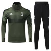17-18 Juventus Champion League Green Training Kit(Turtleneck Shirt+Trouser)