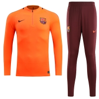 17-18 Barcelona Orange Training Kit(Zipper Shirt+Trouser)