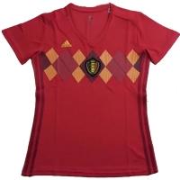 2018 Belgium Home Women's Soccer Jersey Shirt