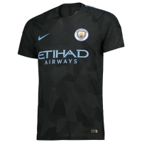 17-18 Manchester City Third Away Deep Green Jersey Shirt(Player Version)
