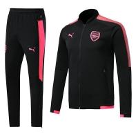 17-18 Arsenal Black&Pink Training Kit(Jacket+Trouser)