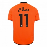 17-18 Liverpool Third Away Salah(Arabic) #11 Orange Soccer Jersey Shirt