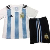 2018 World Cup Argentina Home Children's Jersey Kit(Shirt+Short)