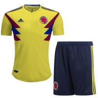 2018 World Cup Colombia Home Jersey Kit(Shirt+Short)