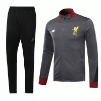 17-18 Liverpool Gray Training Kit(Jacket+Trouser)