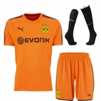 17-18 Borussia Dortmund Goalkeeper Orange Jersey Kit(Shirt+Short+Socks)