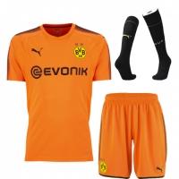 17-18 Borussia Dortmund Goalkeeper Orange Jersey Kit(Shirt+Short+Socks)