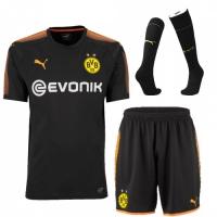 17-18 Borussia Dortmund Black Goalkeeper Jersey Kit(Shirt+Short+Socks)
