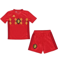 2018 Belgium Home Red Children's Jersey Kit(Shirt+Short)