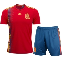 2018 World Cup Spain Home Soccer jersey kit (Shirt+Short)