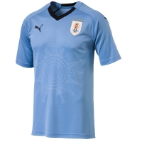 2018 World Cup Uruguay Home Soccer Jersey Shirt