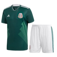 2018 World Cup Mexico Home Jersey Kit(Shirt+Short)