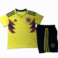 2018 World Cup Colombia Home Children's Jersey Kit(Shirt+Short)
