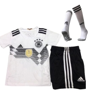 2018 Germany Confed Cup Home White Children's Jersey Whole Kit(Shirt+Short+Socks)