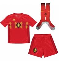 2018 Belgium Home Red Children's Jersey Whole Kit(Shirt+Short+Socks)
