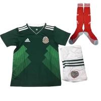 2018 Mexico Home Children's Jersey Whole Kit(Shirt+Short+Socks)