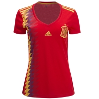 2018 Spain Home Red Women's Jersey Shirt