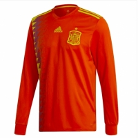2018 Spain Home Long Sleeve Jersey Shirt