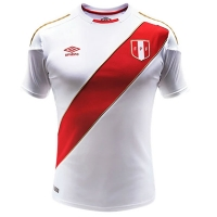 2018 World Cup Peru Home Soccer Jersey Shirt