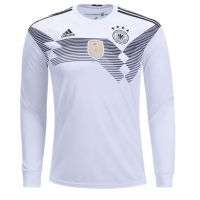 2018 World Cup Germany Home Long Sleeve Jersey Shirt