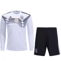 2018 World Cup Germany Home Long Sleeve Jersey Kit(Shirt+Short)