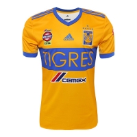17-18 Tigres UANL Home Soccer Jersey Shirt(Six Start)