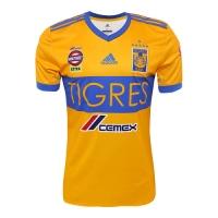 17-18 Tigres UANL Home Soccer Jersey Shirt(Six Start)