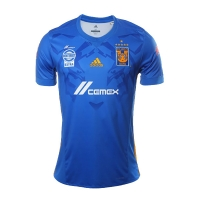 17-18 Tigres UANL Away Blue Soccer Jersey Shirt(Six Start)