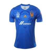 17-18 Tigres UANL Away Blue Soccer Jersey Shirt(Six Start)