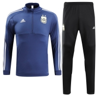 2018 World Cup Argentina Navy Training Kit(Sweat Top Shirt+Trouser)