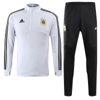 2018 World Cup Argentina White Training Kit(Sweat Top Shirt+Trouser)