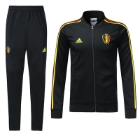 2018 World Cup Belgium Black Training Kit(Training Jacket+Trouser)