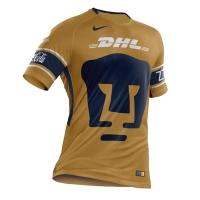 17-18 UNAM Pumas Third Away Golden Jersey Shirt