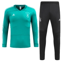 2018 World Cup Germany Green&Black Training Kit(Sweat Top Shirt+Trouser)