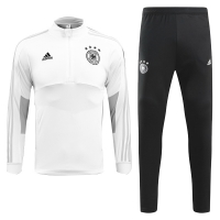 2018 World Cup Germany White&Black Training Kit(Zipper Shirt+Trouser)