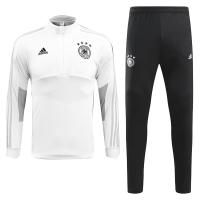 2018 World Cup Germany White&Black Training Kit(Zipper Shirt+Trouser)