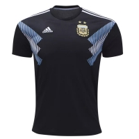 2018 Argentina Away Black Soccer Jersey Shirt(Player Version)
