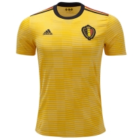 2018 World Cup Belgium Away Yellow Soccer Jersey Shirt