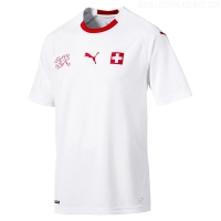 2018 World Cup Switzerland Away White Jersey Shirt