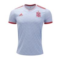 2018 World Cup Spain Away White Soccer Jersey Shirt