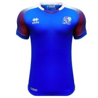 2018 World Cup Iceland Home Blue Soccer Jersey Shirt