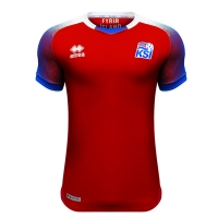 2018 World Cup Iceland Goalkeeper Red Soccer Jersey Shirt