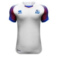 2018 World Cup Iceland Away White Soccer Jersey Shirt