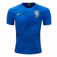 2018 World Cup Brazil Away Blue Soccer Jersey Shirt